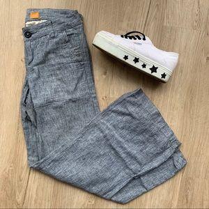 Anthropologie Wide Leg Linen Trousers Pants Pilcro